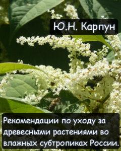 Карпун Ю. Н. Рекомендации по уходу за древесными растениями во влажных субтропиках России